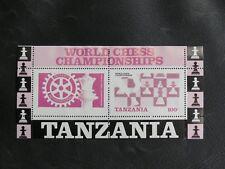 TIMBRES THEME DES ECHECS : TANZANIE 1986 YVERT BLOC FEUILLET N° 44** NEUF - TBE