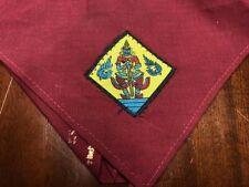 Nongkai Thailand Royal Boy Scout neckerchief scarf w/ patch