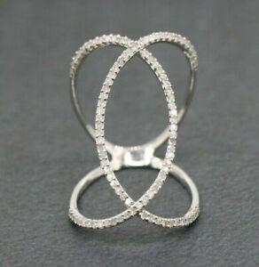 9ct White Gold 0.50ct Diamond Cluster Ring Size J, K, L 1/2