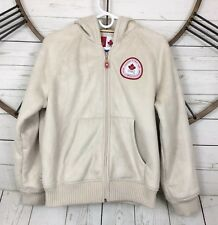 Canadian Olympic Team 2006 HBC Faux Suede Sherpa Lined Jacket Hooded Size L
