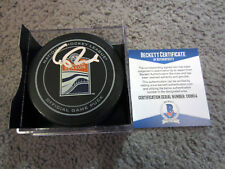 CONNOR MCDAVID Edmonton Oilers SIGNED Autographed Official Game Puck w/ BAS COA