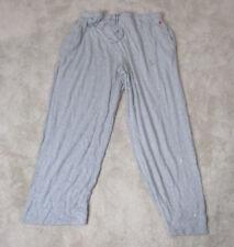 Ralph Lauren Polo Pajama Pants Adult Extra Large Gray Red Pony Sweat Pants Men *
