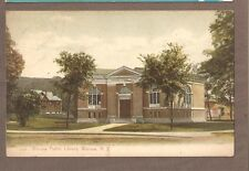 VINTAGE POSTCARD 1909 WARSAW PUBLIC LIBRARY NEW YORK
