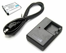Battery + Charger for Olympus Stylus 770 SW 780 790 SW 820 830 840 850 SW 550 WP