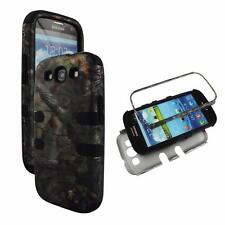 For Samsung Galaxy S 3 III i9300 Hybrid Blk Strip Camo ForesttreeHard Soft Cover