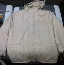Vtg 90S Polo Ralph Lauren Puffer Jacket Cream White XL Sport Goose Down Hooded