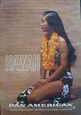 PAN AMERICAN AIRWAYS AIRLINES HAWAII 1964 Vintage TRAVEL poster WOMEN OF WORLD