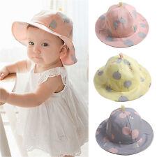 Baby Infant Kids Girls Cotton Hat Cap Summer Sun Beach Cute Polka Dot Hats Comfy