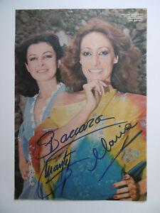 "Baccara ""Mayte & Maria"" Autogramme signed A4 Magazinbild"