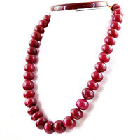 1009.50 CTS EARTH MINED RICH RED RUBY ROUND SHAPE BEADS SINGLE STRAND NECKLACE