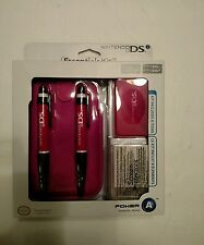 Nintendo DSi DS Lite Pink Essentials Kit Power A