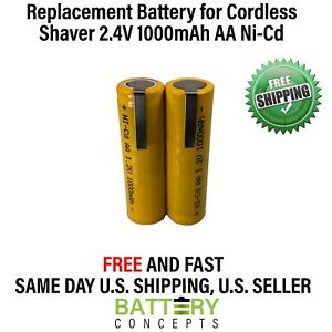 2.4V NiCd AA 1000 mah battery upgrade pack for Norelco and Remington shavers