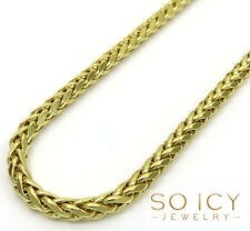 "26"" Inch 7 Grams 2.5mm 10k Yellow Gold Wheat Spiga Chain Necklace Mens Ladies"
