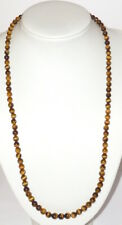 Old Necklace Bead Chain Gemstone Necklace Stones Tiger Eye Chain Stone 40gr