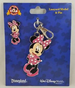 Disney Parks Minnie Mouse Lanyard Medal & Pin - NEW