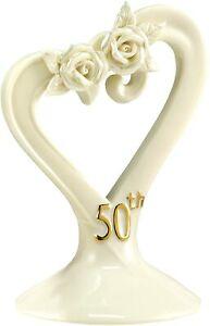 Hortense B. Hewitt Pearl Rose Topper-50th Wedding Anniversary Cake Accessory-NEW