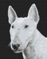 """Bull Terrier Inglés Perro puntada cruzada contada Kit de 12/"""" X 12.5/"""" D2484-30"""