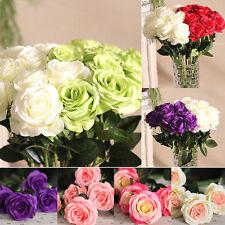 Fleurs Artificielles En Soie Tissu Fausse Rose Maison Mariage Jardin Fête Décor