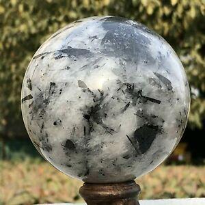 760g Natural Black Tourmaline Ball Crystal Quartz Sphere Healing Stone