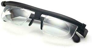 Dial Adjustable Glasses Variable Focus Reading Distance Vision Eyeglasses US