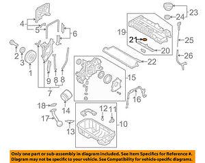 KIA OEM 04-09 Spectra Engine Parts-Valve Cover Seal 2244323001
