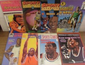 BASKETBALL COMIC LOT SPORTS SUPERSTARS PERSONALITY SHAQUILLE O'NEAL 1992 VF+