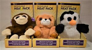 BIG EYES ANIMAL SHAPED LAVENDER SCENT HEAT PACK PENGUIN BEAR Or MONKEY By IN FUN