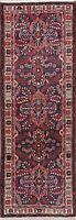 Lilian Wool Runner Hand-Knotted Rug Floral Hamadan Oriental Vintage 3x10