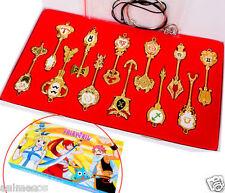 New anime 12PCS Fairy Tail Cosplay Lucy Protoss key sign zodiac keychain set box