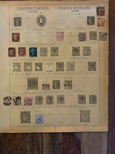 GREAT-BRITAIN - first page of very old album - CV $ 500 (h53)
