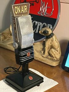"""Custom Prop """"mini RCA 44 Style"""" Microphone - for display only (metal build)"""