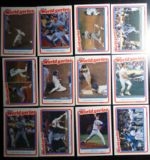 1989 Fleer Los Angeles Dodgers A's 1988 World Series Card Team Set of 12 Cards