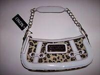 XOXO Purse Handbag Womens Hobo Style Animal Reflection Leopard Print  NWT