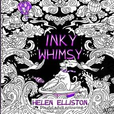 Inky Whimsy Playful Adult Colouring Book Mermaid Fairy Owl Fantasy Dancing Art