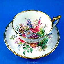 Handpainted & Signed Floral Bouquet Royal Chelsea Tea Cup and Saucer Set