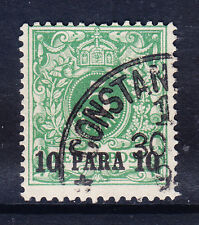 Alemania-Po 's en turco Imperio 1889 SG9 10 Pa en 5pf gritar-Verde Fine Used Gato £ 50