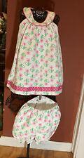 Patsy Aiken Baby Girl Sz. 18 Months Waffle Cotton Halter Neck Summer Dress Set