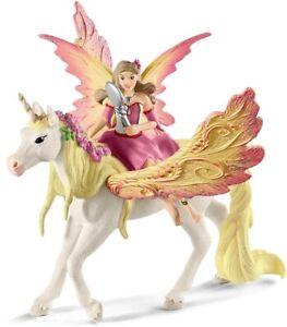 Schleich Feya Fairy With Pegasus Unicorn 70568 -  Toy Figure - Fantasy -  New