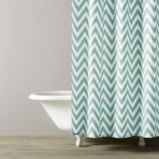 KASSATEX Chevron Spa Blue Shower Curtain