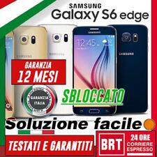 SMARTPHONE SAMSUNG GALAXY S6 EDGE SM-G925 G925V G925F 32GB/64GB 12 MESI GARANZIA