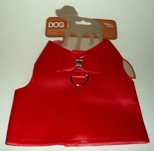 Paws N Claws Rouge Gilet Chien Avec Crochet & Loquet Nœud Et Gem Neuf On Carte