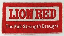 Vtg Pub/Bar/Beer Towel Lion Red Brewery Red & White Bar Towel New Zealand