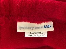 POTTERY BARN PLUSH TWIN ~RED ~ BLANKET ~ EXCELLENT CONDITION ~