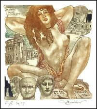 David Bekker Exlibris C4 Bookplate Erotic Erotik Nude Nudo Woman 107