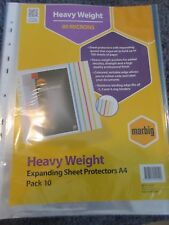 10 Pack – Marbig Expanding Sheet Protectors Gusseted Pocket free postage