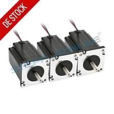 3PCS Dual Shaft Nema 24 Stepper Motor 3.1Nm 3.5A 88mm 4 Wires Φ8mm CNC Mill