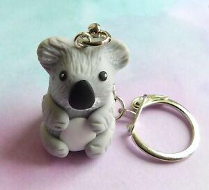 Koala Keyring, Handmade, Cute, Gift, Christmas, Birthday, Animal, Wild, NEW