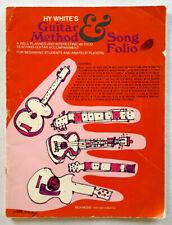 Hy White's Guitar Method & Song Folio-Music Instruction-Vtg 1954
