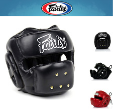NWT Fairtex Muay Thai Boxing Head Guard HG14 Full Face Head Gear w/ RETAIL BOX