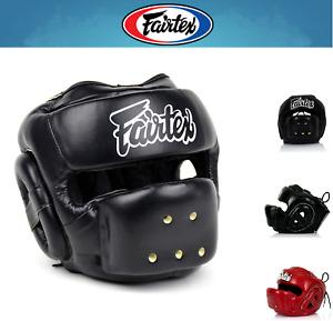 NWT Fairtex Muay Thai Boxing Head Guard HG14 Full Face Head Gear w/ RETAIL BOX